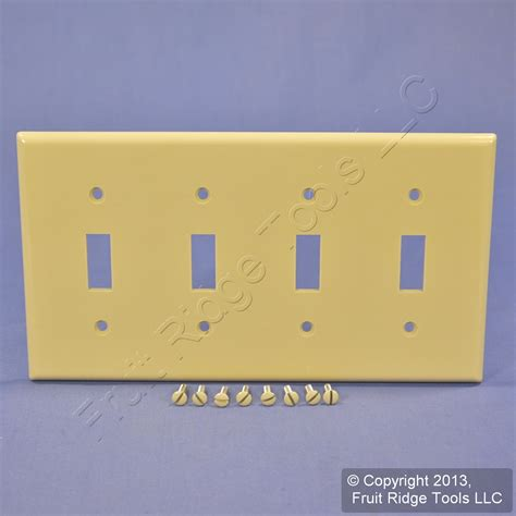 light switch wall plates leviton ivory 4 gang toggle light switch cover wall plate