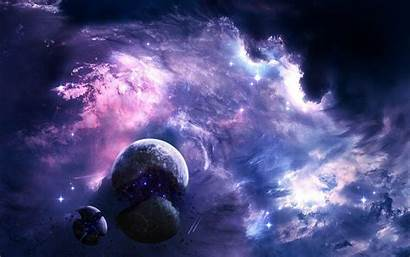 Galaxy Purple Resolution Backgrounds Wallpapers