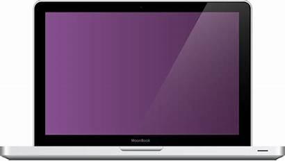 Laptop Mac Clipart Transparent Notebook Computer Open
