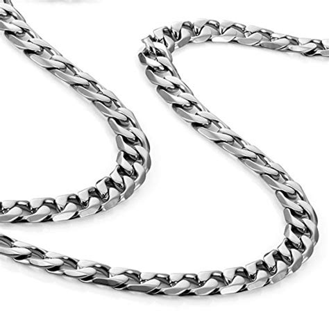 urban jewelry classic mens necklace  stainless steel