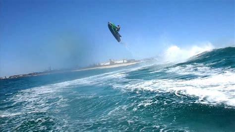 Jet Boat Vs Jet Ski by Jet Ski Wave Jumping