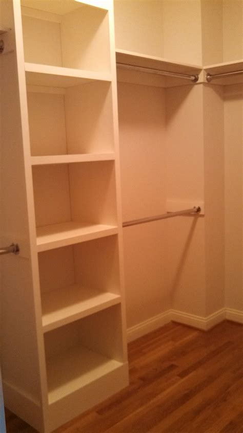shelves for closet white our master closet from this plan diy projects