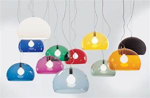 Luminaire Kartell : suspension fl y 52 cm rouge kartell ~ Voncanada.com Idées de Décoration