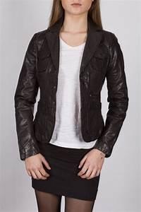 Blazer Femme Noir : blazer en cuir lpb femme noir 2160 revacuir ~ Preciouscoupons.com Idées de Décoration