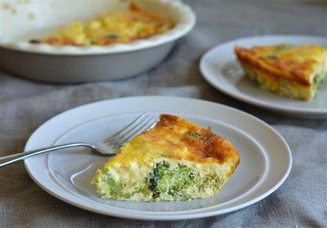 crustless broccoli quiche    chef