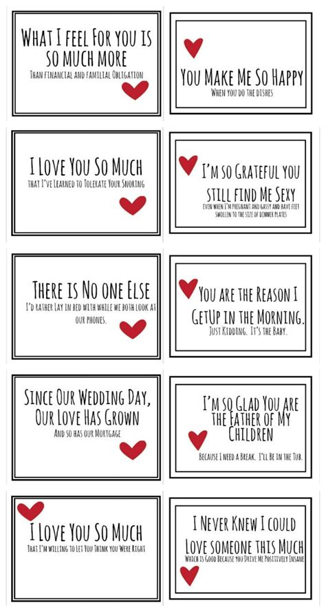 Valentine Day Cards Husband Printable Free