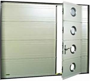 porte de garage sectionnelle gypass avec portillon With porte de garage sectionnelle avec portillon tarif
