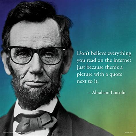 foto de Abraham Lincoln Internet Novelty Quote Saying College
