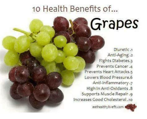 10 Health Benefits Of Grapes Diuretic 1 Anti Aging 2