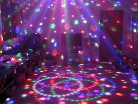 disco l lighting and ceiling fans