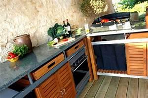 cuisines d39exterieur et barbecues design et haut de gamme With cuisine d ete design