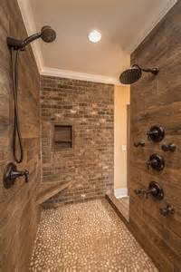 decorating ideas for bathroom shelves what is the wood tile used on the shower walls