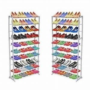 Meuble Chaussure 40 Paires : meuble chaussures 100 paires ~ Teatrodelosmanantiales.com Idées de Décoration
