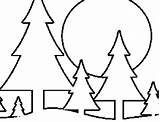 Coloring Pine Trees Pages Tree Printable Freeprintablecoloringpages Plants Templates Flowers sketch template