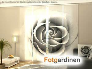 Schiebegardinen Mit Motiv : fotogardinen rose fl chenvorhang schiebegardinen mit motiv auf ma ebay ~ Orissabook.com Haus und Dekorationen