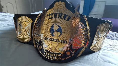 Real Wwf Winged Eagle Dual Plated World Championship Title