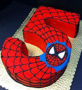 Spiderman 5th birthday cake (you could change the number ...