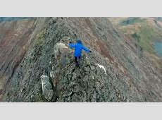 Watch perilous Crib Goch clamber drone footage that's