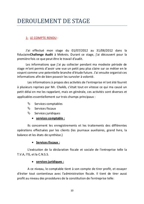rapport de stage challenge audit gestion de la comptabilit 233 dans un