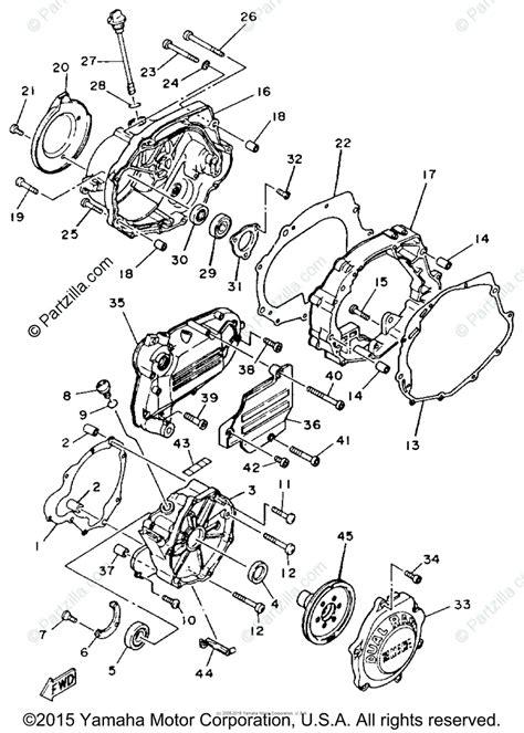 yamaha atv 1986 oem parts diagram for crankcase cover 1 partzilla com