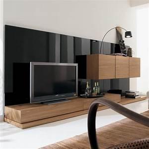 Meuble Tv Bois Design : meuble tv moderne 30 designs uniques et conseils pratiques ~ Preciouscoupons.com Idées de Décoration