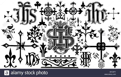 Victorian Illustration Of Christian Monograms (eg Ihs. Softball Catcher Decals. Western Banners. Sport Car Logo. Panahon Tv Signs. Photo Edit Stickers. Christmas Theme Logo. Bamboo Signs Of Stroke. Blank Murals