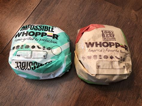 blind taste testing the impossible whopper the regular whopper wichita by e b