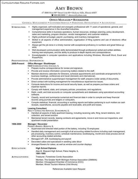 Bookkeeper Resume Templates | Free Samples , Examples & Format Resume / Curruculum Vitae