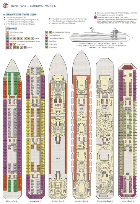 carnival valor deck plan cruise pinterest cruises