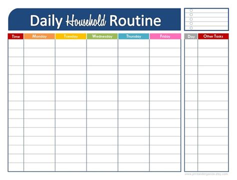 printable daily planner templates