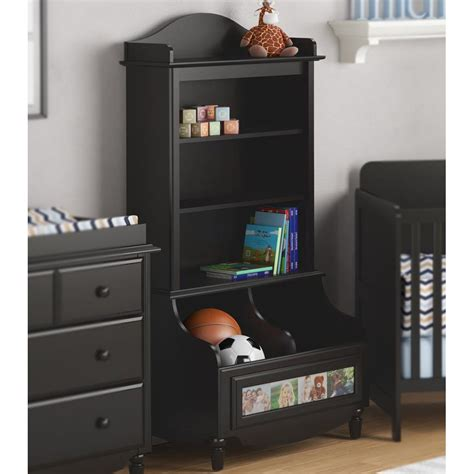 Bookcase With Closed Storage by Childrens Bookcase Storage Bin In Shelves
