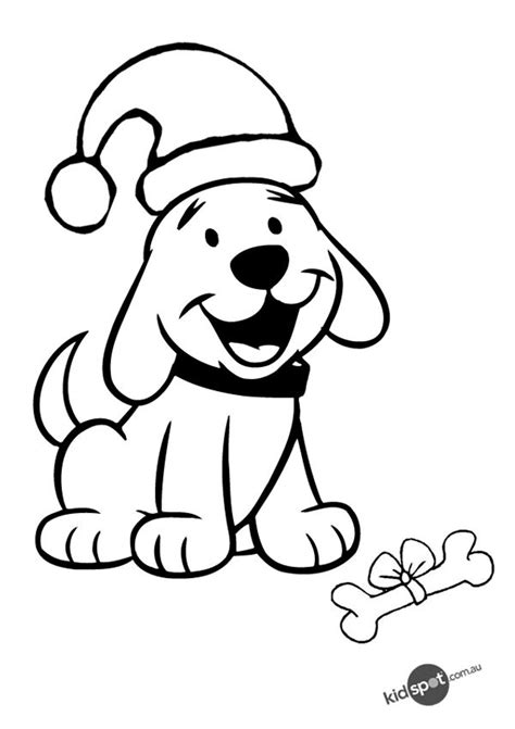 christmas puppy colouring page signs dog