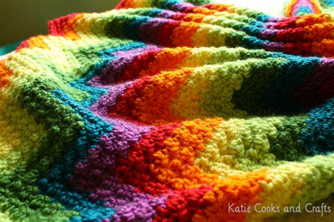 ripple crochet pattern katie cooks and crafts rumpled ripple rainbow crochet baby afghan pattern