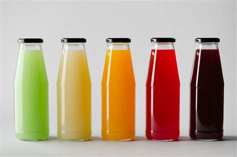 Simple edit with smart layers. Juice Bottle Mockup Multiple Bottles Stock Photo ...