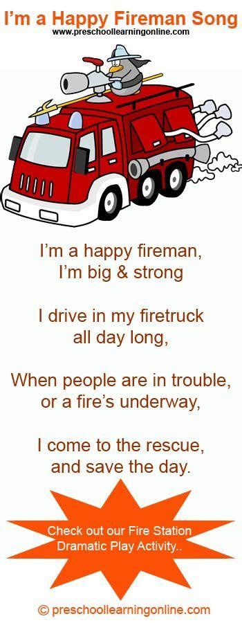 the happy fireman song for preschoolers a song for 867 | feb99b36385c8973e0dfa235b37ee0fa fireman kindergarten police preschool theme