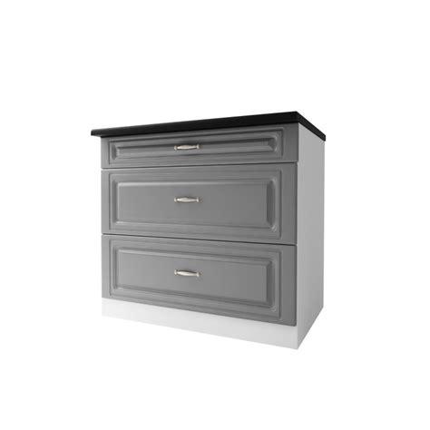 meuble cuisine 90 cm meuble cuisine dina 90 cm 3 tiroirs moulures mdf