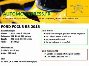 Ford Fiesta St Fiche Technique : essai ford focus rs 2016 game of thrones automotiv press ~ Medecine-chirurgie-esthetiques.com Avis de Voitures