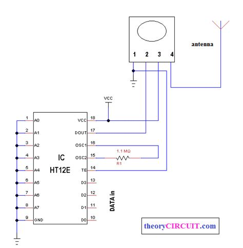 Wireless Switch Using Mhz Ask Modules Theorycircuit