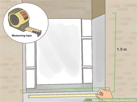 how to install a shower door how to install a glass shower door with pictures wikihow