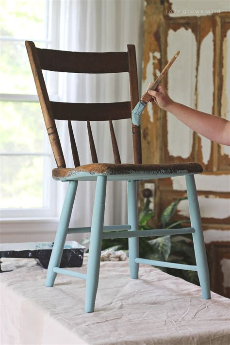 painted chair for outdoors grows