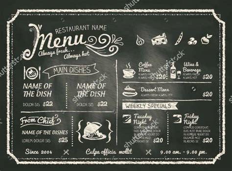 chalkboard menu designs word psd eps design