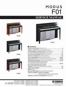 Yamaha Modus F01 Digital Piano Service Manual  U0026 Repair