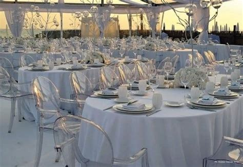 tables linen marquees cutlery crockery wimbledon ghost plastic chairs for hire we do