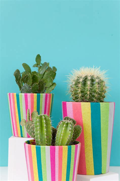 diy tissue paper covered pots tell love and party