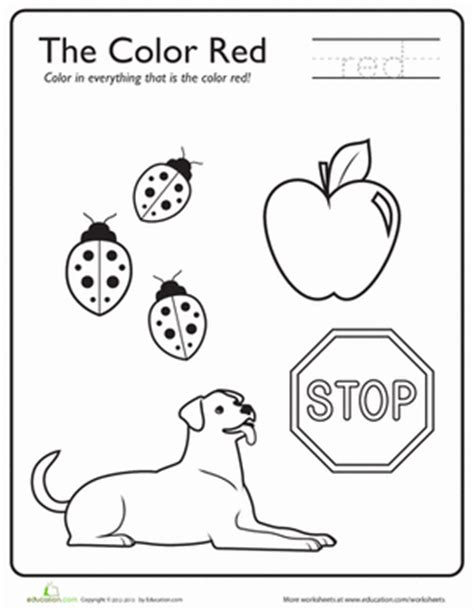 learning colors worksheet education 639 | learning colors red vehicles preschool