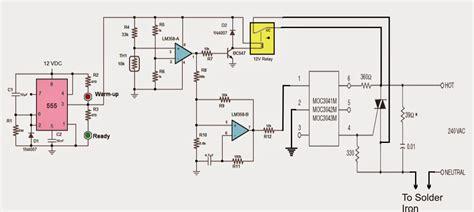 energy saver solder iron station circuit