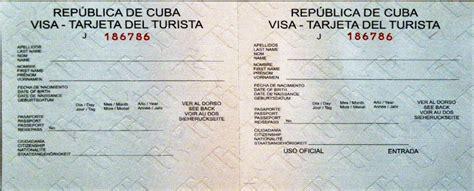 Visto Ingresso Cuba by Documenti Per Visto Cubano Sweettravel Viaggi Tour E Vacanze