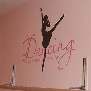 quotes ballet ballerina wall sticker dance dreaming feet With decals and lettering and graphics