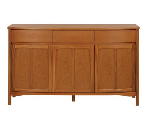 Nathan Sideboard by Nathan Shades Teak 1814 Shaped 3 Door Sideboard