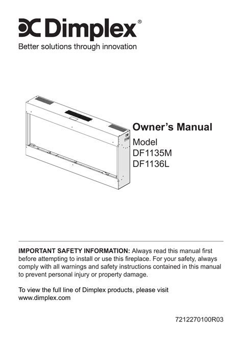 Dimplex sp420 installation and operating instructions manual pdf.